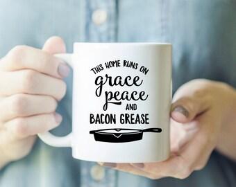 Sassy Mug - Cute Coffee Mug, Sassy Mug Gift, Funny Coffee Mug, Farmhouse Mug, Breakfast Mug, Mug for Mom, Bacon Lover Gift