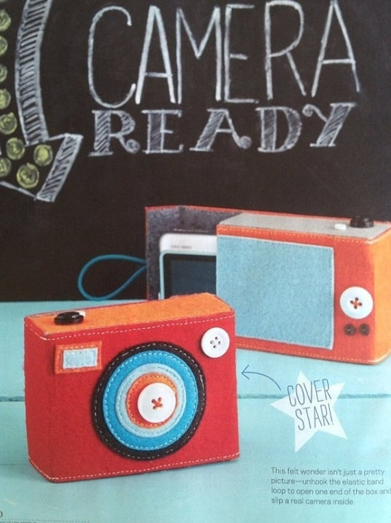 ECO BOXY Felt Camera Case, Featured in Simply Handmade Magazine