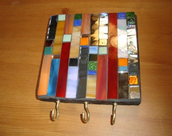 MOSAIC Jewelry or Key Hanger,  Wall Art, Wall Hanging, Multicolor