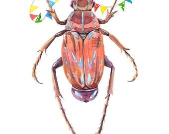 Kinderzimmer Käfer Nr. 3 (19 x 24 cm)