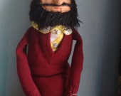 Black Haired Bearded Hipster Man Doll