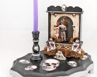 Mini Gothic Altar - Memento Mori Altar - Gothic Home Decor - Table Top Altar - Functional Art