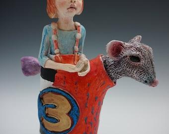 Three ceramic sculpture by artist Victoria Rose Martin