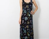 Maxi Dress - Hand Printed - Organic Cotton - Floral Dress - Spring Wedding - Thief and Bandit®
