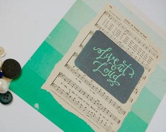 Praise Hymn...Vintage Hymnal Art- Live Out Loud