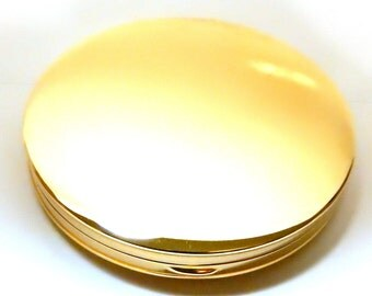 14k Compact Gold Clean Modern Design Loose Powder