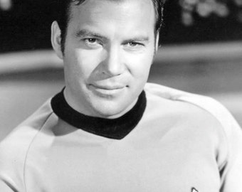 Captain Kirk Star Trek William Shatner Original Series Publicity Photo Reprint 1960s Science Fiction TV Photography