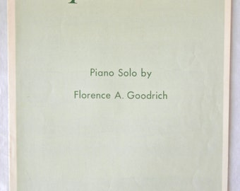 Sheet Music, Caprice in C, Piano Solo, Florence A. Goodrich, Summy-Birchard Co., Copyright 1910