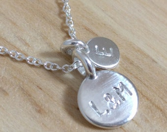 New Mom Necklace - New Baby - Push Present Family Necklace - Couple Necklace Custom Engraved - Dainty Silver Necklace - Simple Necklace Tiny