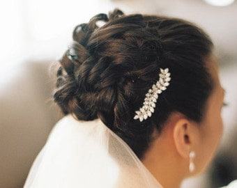 Vintage Inspired Bridal  Side Hair Comb Leaf Shape