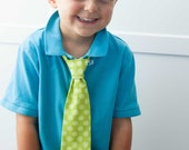 Lime Green Swirl Easter Necktie - SHIPS TODAY