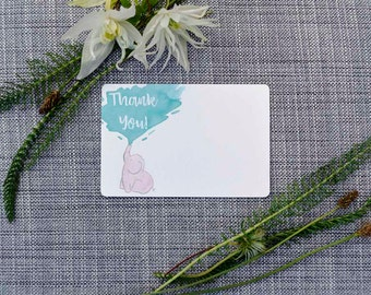 Printable Pink Elephant Thank You Note