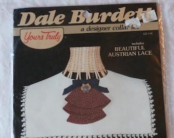 Austrian Lace Designer Collar 1980s Dale Burdette Cut and Sew  Kit