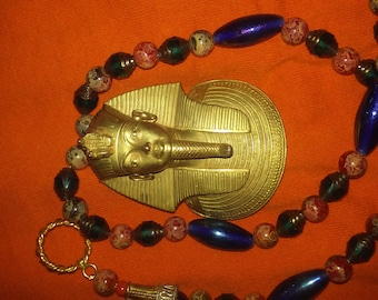 King Tut Egyptian Revival Necklace