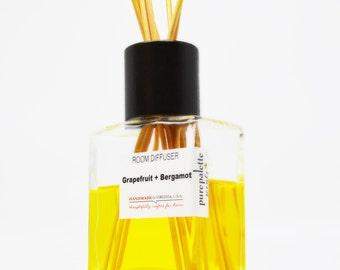 Grapefruit Bergamot Reed Diffuser Oil - Fragrance - Home Decor / Dorm Decor with Natural Undyed Reeds