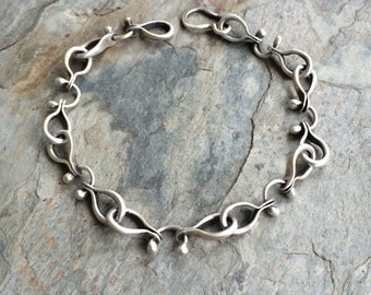 Sterling Silver Bracelet. MADE TO ORDER. Handmade Jewelry for Charity.