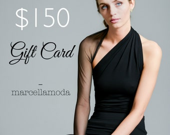 marcellamoda Gift Card 150 USD / Beautiful Gift / Christmas Stuffer / Birthday Present / marcellamoda - MA1007