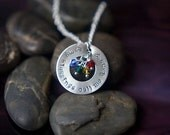 SALE - Mommy Jewelry - My Blessings Call Me Nana Necklace - Mothers Necklace - Mom Quote - Birthstone Necklace - Grandchildren