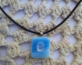 Pendant for Women, Fusing Glass, Necklace, Israel Jewelry, Bat Mitzva Gift , Pendant, Glass jewelry, Israel Gift