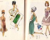 1960s Vintage Lutterloh Supplement No 92 Sewing Pattern Drafting booklet 48 patterns to draft