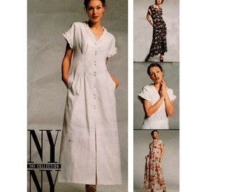 90s Fit and Flare Cap Sleeve Dress Pattern McCall's 8212 Vintage Sewing Pattern Size 12 14 16 UNCUT Factory Folds