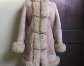 60s Sheepskin Coat with fur lining and metal closures