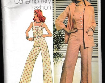 Simplicity 6458 Young Contemporary Fashion Misses Shirt-Jacket, Camisole, Top and Pants