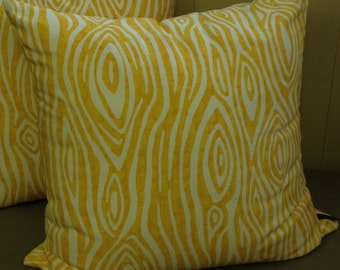 Willow (Yellow) - Pillow Cover Only 20 x 20 - JD Designs