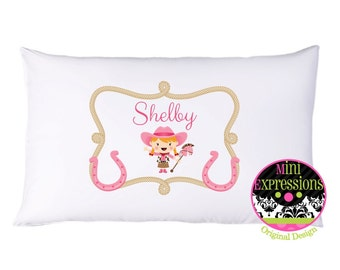 Pink Cowgirl Personalized PillowCase