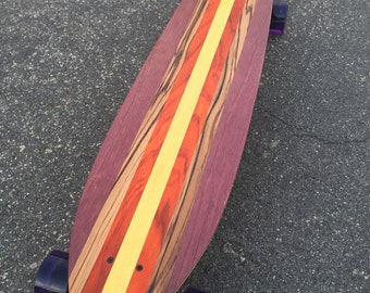 """LONGBOARD - 39 x 9 - Made from Exotic Woods """"Paradise Cove"""" complete"""