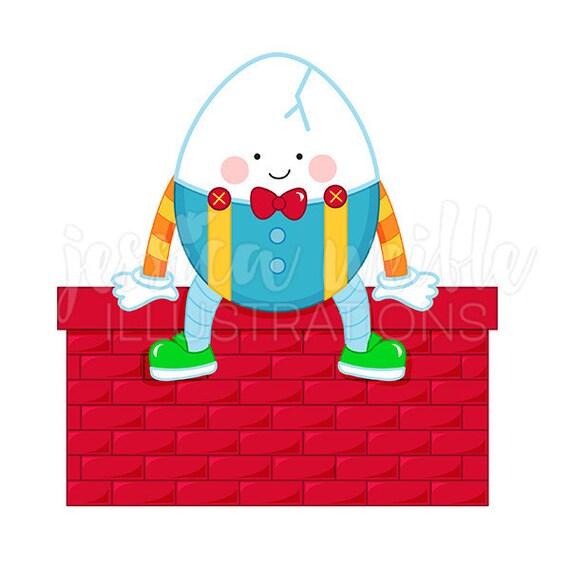 Humpty Dumpty Cute Digital Clipart, Mother Goose Rhyme Clip art ...