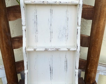Spoon Rack Jewelry Rack Heirloom White Vintage Shabby Farmhouse
