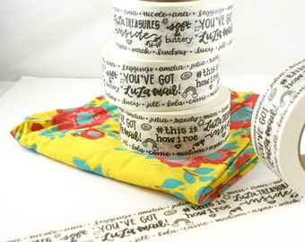 SHOP EXCLUSIVE lularoe masking tape - you've got Lulamail, lulatreasures, soft leggings, this is how I roe - lularoe packaging