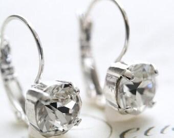 Swarovski Crystal Earrings, Crystal Earrings, Clear Diamond, 39ss Earrings, Swarovski Earrings, Bridesmaid Earrings
