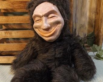 Original Handmade Creepy Smiling  Teddy Bear