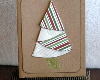 Folded Christmas Tree Card - Single Card
