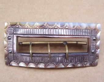 Vintage belt buckle Victorian mother of pearl dress buckle sash buckle Edwardian buckle antique buckle  (ZAA)