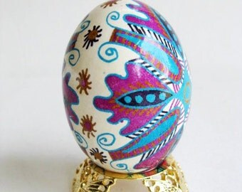 Pysanka Ukrainian Easter eggs chicken egg shell hand painted batik unique gift for first mother's day gift from baby or husband