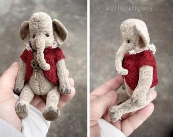 Babe, Miniature Elephant Artist Teddy Bear by Aerlinn Bears