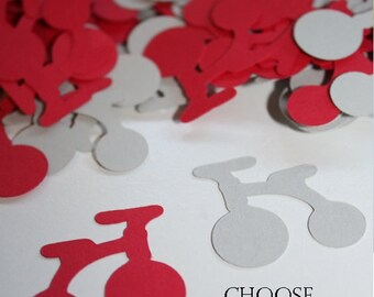 Choose Your Colors! Tricycle Bicycle Die Cut Confetti Table Decor 200 pieces