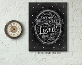 Twinkle Twinkle Little Star Do You Know How Loved You Are  - Hand Lettered Chalkboard Nursery Print Wood  Wall Decor Sign
