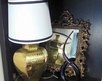 Petite Hammered Brass Desk Lamp