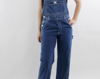 Vintage 90's CK Calvin Klein denim overalls, soft, oldstock, tag still attached, MINOR FLAW, lightweight denim, unisex - Small