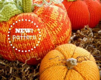 NEW! PATTERN-BOOKLET. A Knit Pumpkin Patch Pattern. No Felting Required.