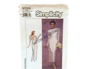 Vintage Simplicity 9099, Wedding Dress Pattern, Bridal Dress Pattern, Vintage Wedding Pattern, 80's Wedding Dress, Bridesmaid Dress Pattern
