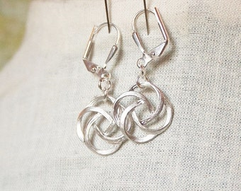 Handmade Earrings Silver Earrings Silver Dangle Earrings Gold Earrings Silver Knot Earrings Gold Knot Earrings Gold Dangle Earrings