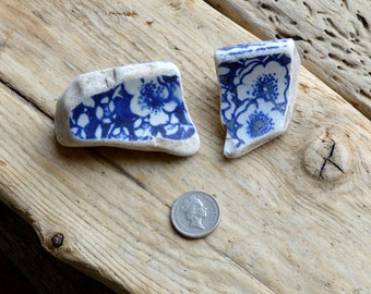 CHUNKY FLORAL POTTERY - Pair - Scottish Beach Pottery Supplies (4172)