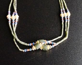 VERDE STONE ethnic jade necklace.