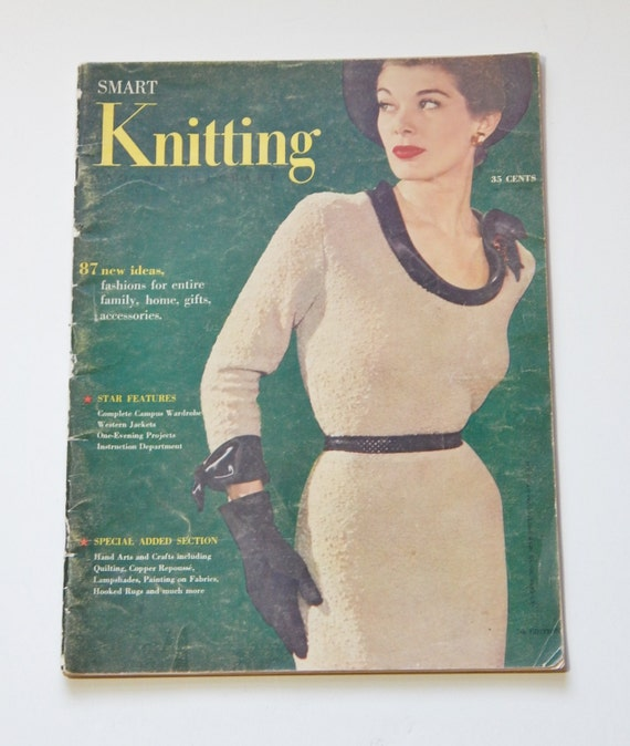 Knitting Quilt Magazine : Vintage magazine knitting smart mid century fashion