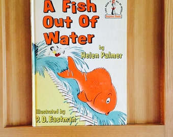 A Fish Out Of Water, Helen Palmer, Vint Book Club Edition 1961, Beginner Books, I Can Read, Dr Seuss Hard Back, Children's Book